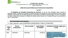 Edital solicita o título de mestre para os candidatos que irão concorrer à vaga, o que é considerado ilegal pelo MPF