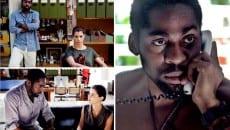 Vicente (Lázaro) terá de construir uma nova identidade para sua cliente (Alinne Moraes)