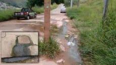 Problema no Estrela Sul acontece na Rua Áurea Infância (Foto do leitor Leandro Rodrigues)