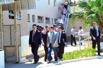 Secretário Odair Cunha veio a convite da Pastoral Carcerária e visitou, entre outros lugares, o Ceresp (OLAVO PRAZERES/15-10-15)
