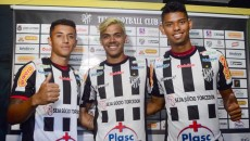 Thiago André, Matheus Pato e Bonilha terão primeiras oportunidades no futebol profissional brasileiro (Foto: Olavo Prazeres)