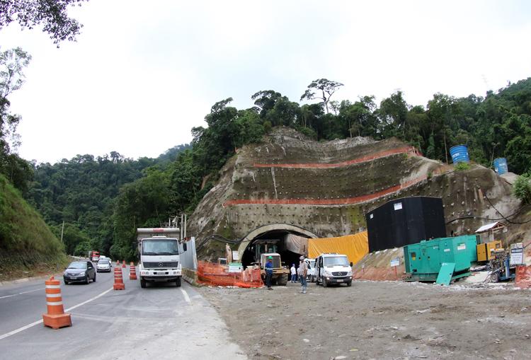 Uma das principais obras da nova subida da Serra é a de um túnel com mais de 5 quilômetros de extensão (Foto: Fernando Priamo/ arquivo TM)